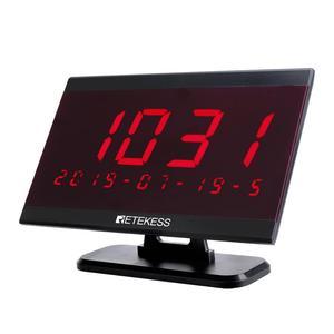 Image 5 - Retekess מסעדת הביפר 40pcs T117 שיחת כפתור + 4pcs TD108 שעון מקלט + מקלט מארח + אות מהדר אלחוטי קורא מערכת