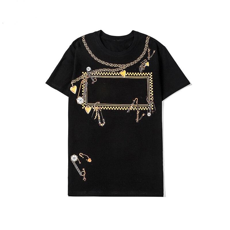 Summer Luxury Tshirt Lady Tees Short Sleeve Complex Craft Print Cotton Unisex Tops High Quality Brand Women Tee Femmes T shirt T-Shirts  - AliExpress