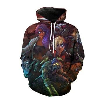 Popular Game League of Legends 3D Print Hoodies LOL Cosplay Sweatshirt Men Women Fashion Hoodie Harajuku Hip Hop Pullover Unisex 2