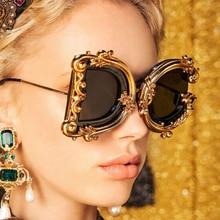 Luxury Brand Punk Wrap Sunglasses Women 2020 New Gothic Shad