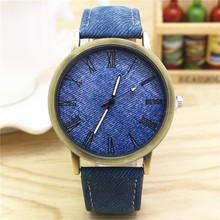 MEIBO Watches Men Women Fashion Blue Denim Design Leather Strap Quartz Casual Wristwatch Relogio Masculino relogio femino 2019