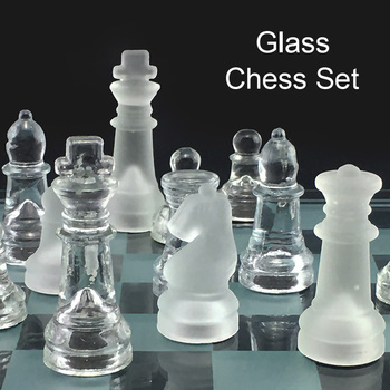 Jeu d'échecs style cristal 20x20/25x2 5/35x35cm 1
