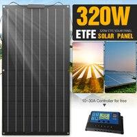 Panel Solar de 320W, Kit de energía Solar ETFE para sistema doméstico, generador de energía, cargador de batería para Camping, coche, placa solar placas solares para casa kit completo cargador solar bateria 12v system
