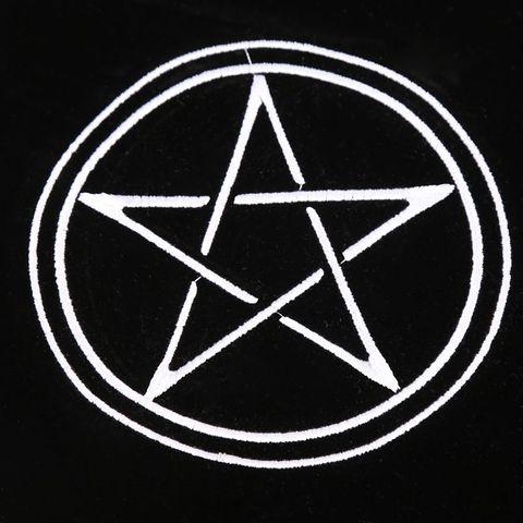 Jogo de Tabuleiro Veludo Tarô Toalha Altar Wicca Pentagrama Sol Bordado Y4ub 80 × 80cm