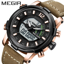 High Quality Military Watches Dive 30M Nylon&Leather Strap LED Watches Men Top Brand Luxury Quartz Waterproof Shockproof Watch 2016 new style men s brand watches 3d scale fashion quartz watch men dive 30m nylon strap sports army military wrist watches