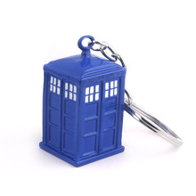 New Arrival Doctor Who Keychain Blue Color Dalek Tardis Police Box Key Holder For Men And Woman Accessories цена и фото