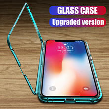 H & Logam Adsorpsi Magnetik Case untuk iPhone X Max XR X 8 7 6 Plus Ponsel Case untuk iPhone XR X Max Magnet Magnetic Cover Case(China)