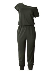 Image 5 - Monos con cuello de barco para mujer, petos con bolsillos sólidos, ropa de calle con pies de rayo, monos de vendaje para mujer 2020