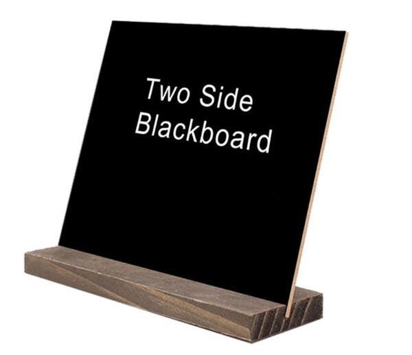 10Set Wood Tabletop Chalkboard Double Sided Blackboard Message Board Children Kids Toy
