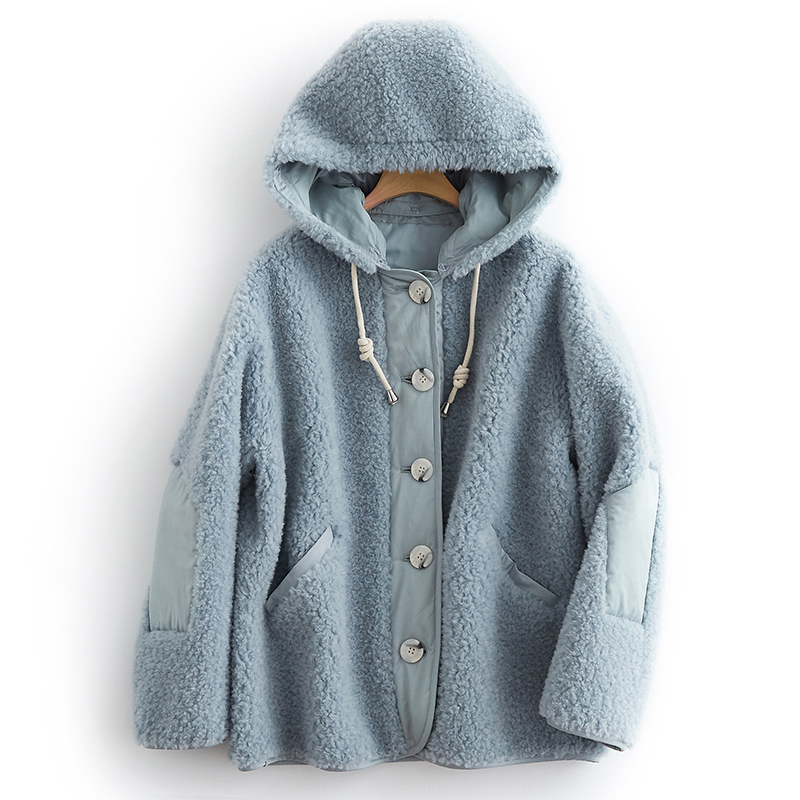 Real Fur Coat 100% Wool Jacket Autumn Winter Coat Women Clothes 2020 Korean Vintage Sheep Shearling Women Tops V19F38124 ZT3037