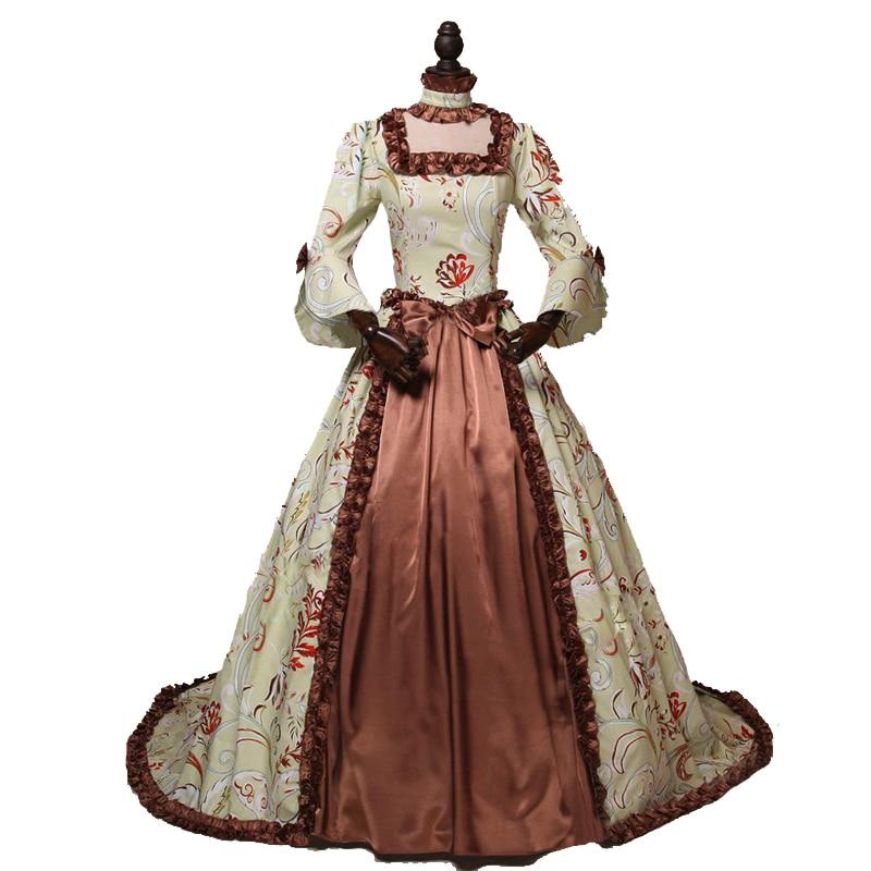 Pakaian Gothic Wanita Champagne Gaun Victoria Era Victoria Gaun - Pakaian Wanita - Foto 5