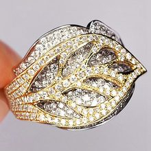 Luxury Zircons Rings For Women Gold Color anillos Fashion Indian Jewelry Middle East Bling Bijoux Bague Gift(China)