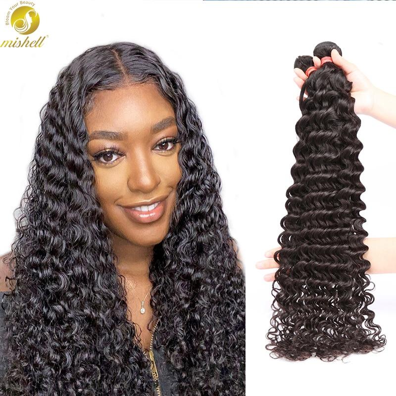 Человеческих волос глубокая волна пряди 36 40 дюймов бразильские волосы, волнистые пряди вьющиеся человеческие волосы волнистые Волосы Remy