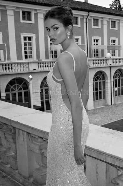 Bridal Gown New Design Vestido De Festa Vestido Longo Robe De Soiree Sexy Backless Silver Paillette Long Bridesmaid Dress