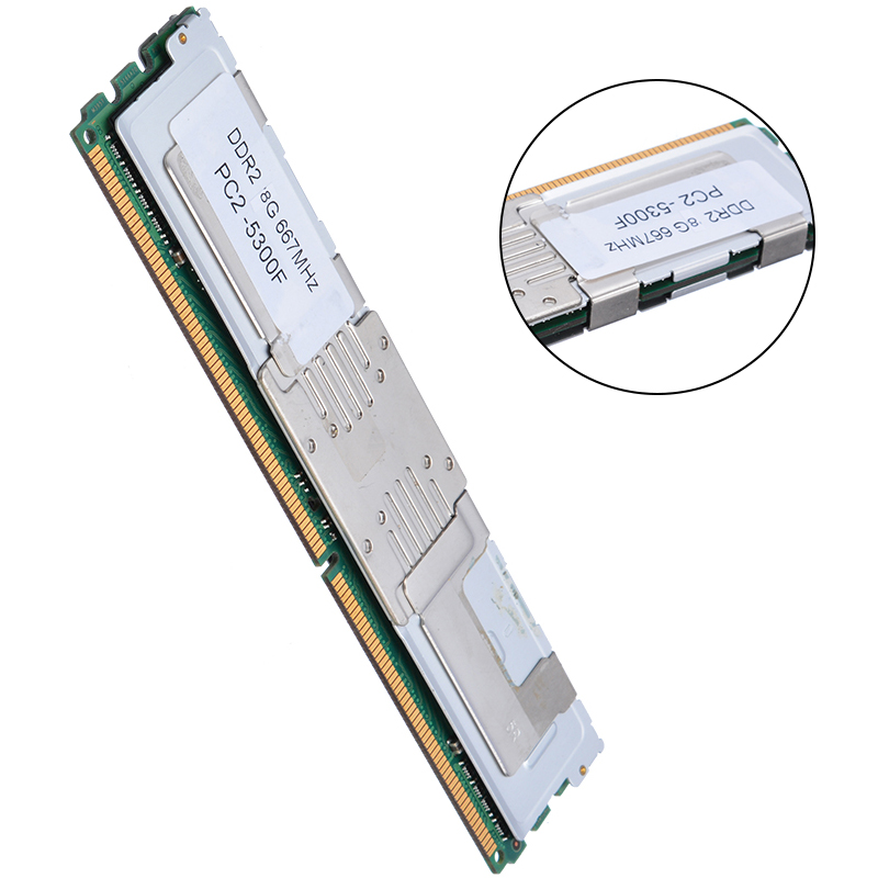 DDR2 8GB Desktop Memory RAM DIMM DDR2 PC2-5300F 667Mhz 1.8V 240Pin Desktop RAM Only Applied To Server