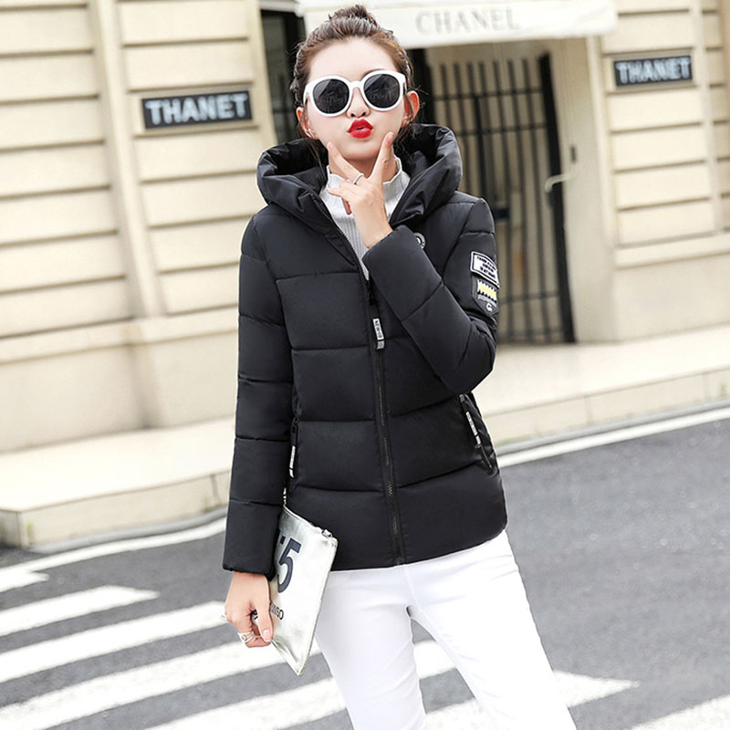 Image 4 - KULAZOPPER New 2019 Winter hot down cotton women's short hooded  jackets ZH084-in Parkas from Women's Clothing