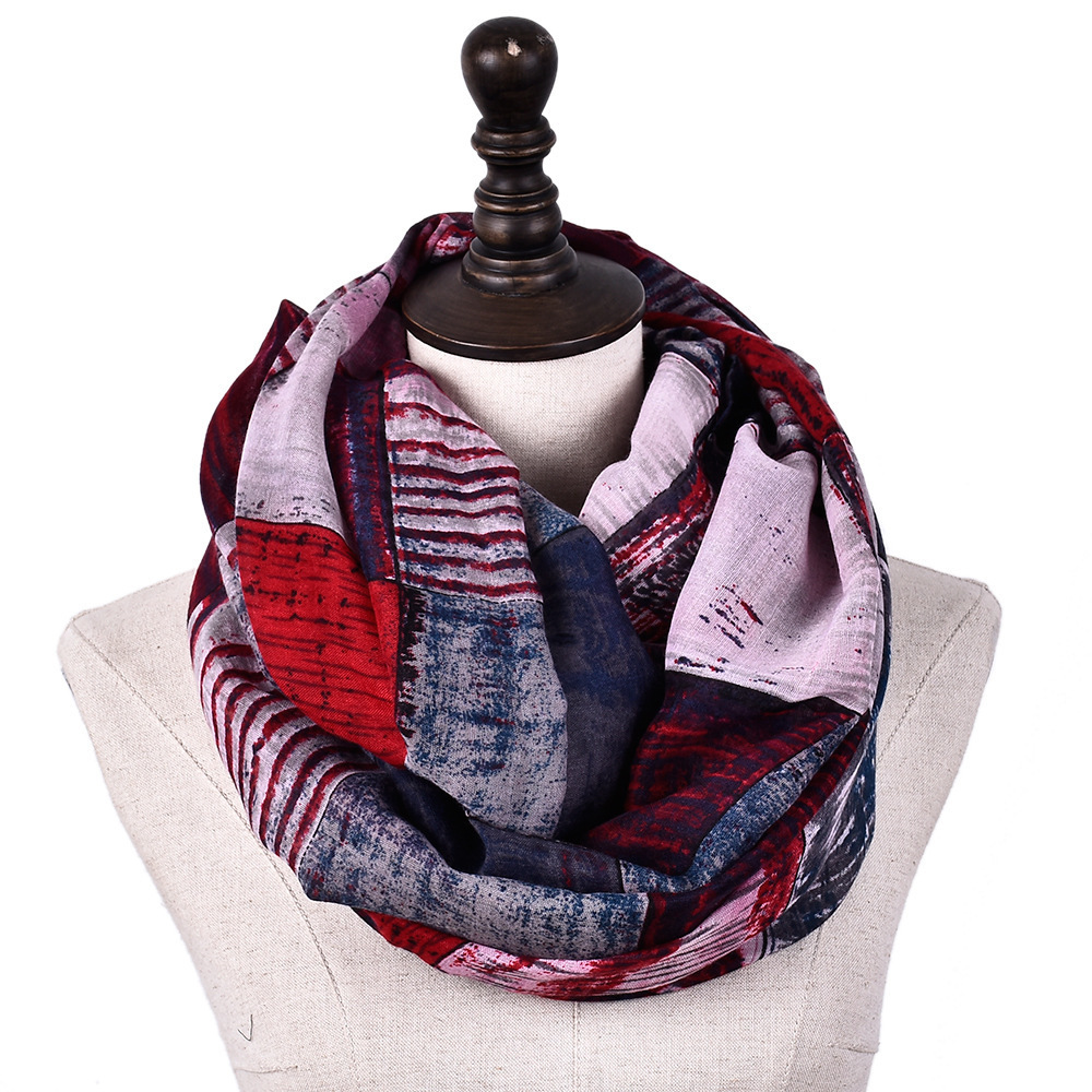 Women Lightweight Cozy Infinity Loop Scarf With Various Artist Print Women Winter Infinity Scarf Echarpe Foulard Femme <font><b>180*90</b></font> Cm image