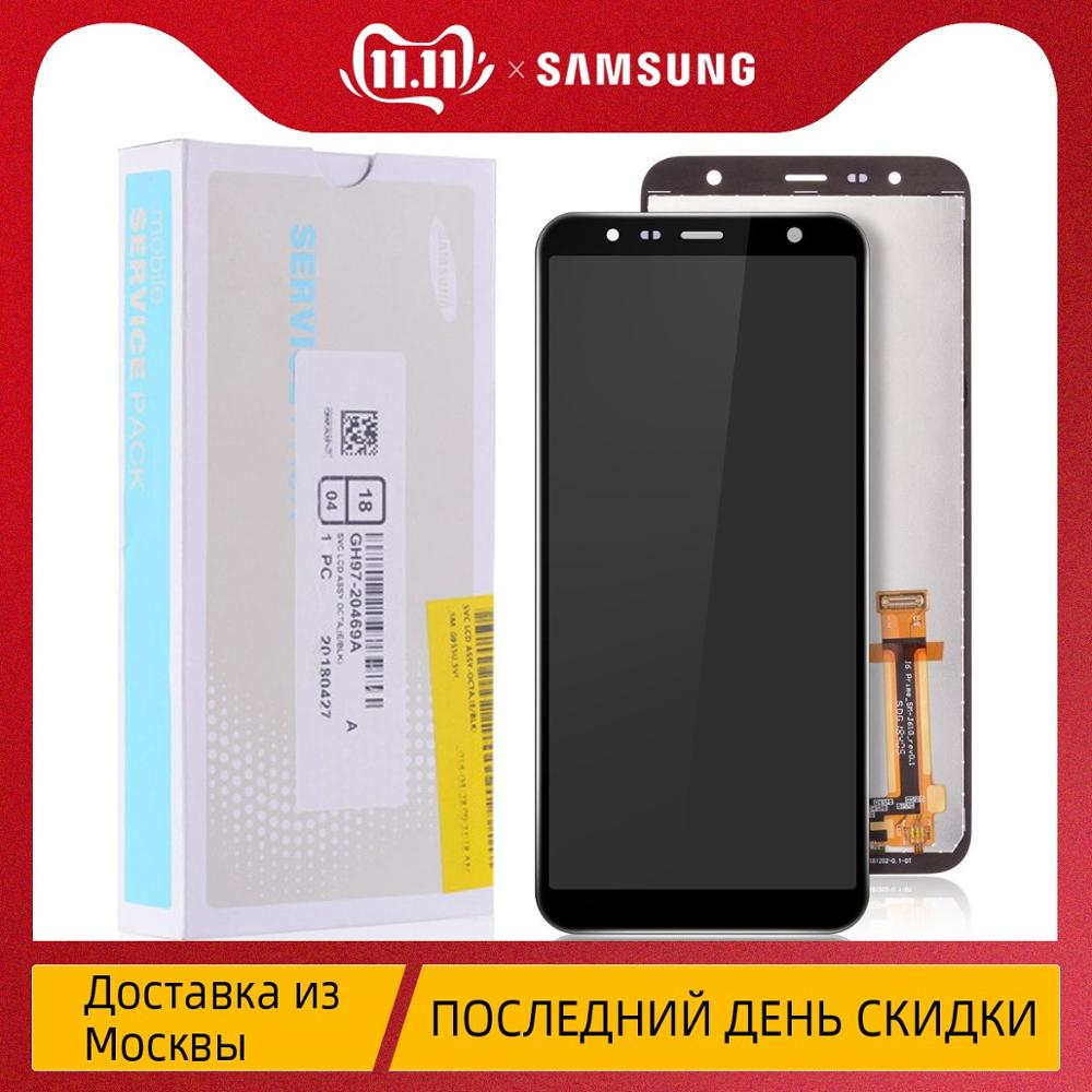 Original AMOLED LCD for Samsung <font><b>Galaxy</b></font> <font><b>J4</b></font> <font><b>2018</b></font> <font><b>Display</b></font> Touch Screen Replacement for Samsung <font><b>J4</b></font> Plus LCD J6 Plus J400 J410 J610 image