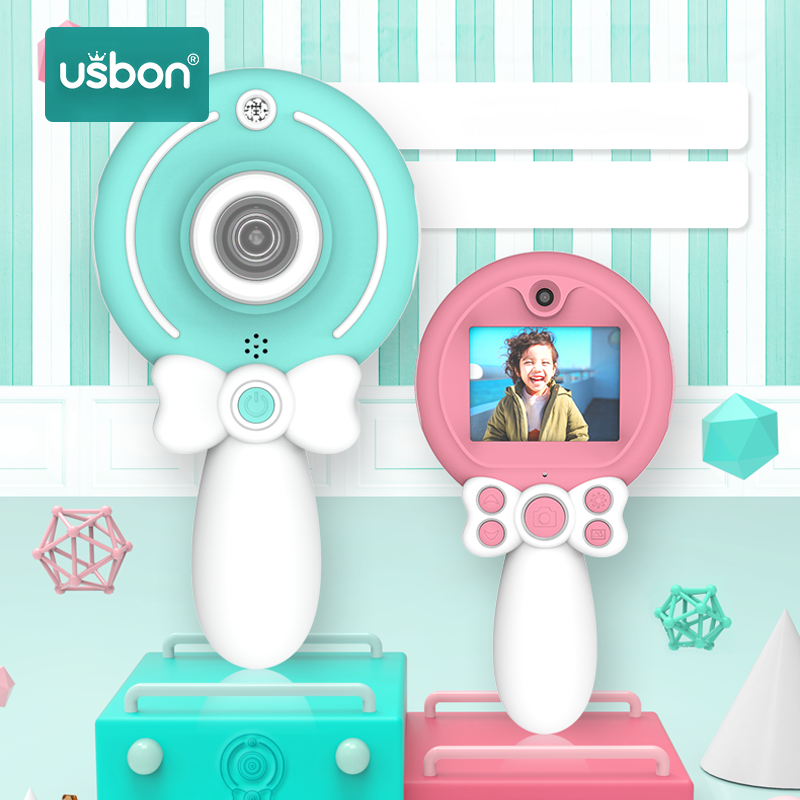 Usbon Kids Camera Digital Toy Children 1080P Toddler Toys Camera 2inch IPS Screen Educational Toys Christmas Gifts