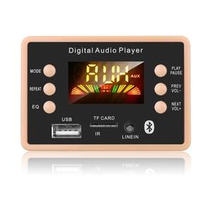 Image 1 - جديد MP3 فك فك لوحة تركيبية 12 فولت بلوتوث 5.0 سيارة USB مشغل MP3 WMA WAV دعم TF بطاقة USB FM لوحة تركيبية عن بعد