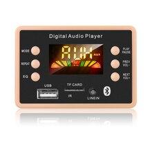 חדש MP3 מפענח פענוח לוח מודול 12V Bluetooth 5.0 רכב USB MP3 נגן WMA WAV תמיכה TF כרטיס USB FM מרחוק לוח מודול