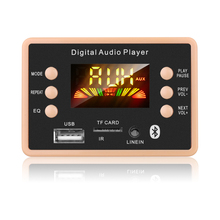 New MP3 Decoder Decoding Board Module 12V Bluetooth 5.0 Car USB MP3 Player WMA WAV Support TF Card USB FM Remote Board Module