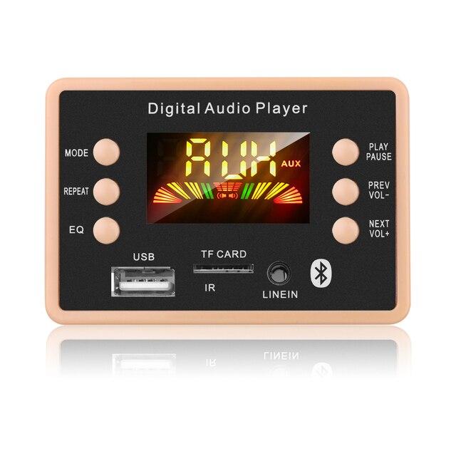 Nowa płyta modułu dekodującego dekodera MP3 12V Bluetooth 5.0 samochodowy odtwarzacz MP3 USB WMA WAV obsługa karty TF moduł zdalnego sterowania USB FM