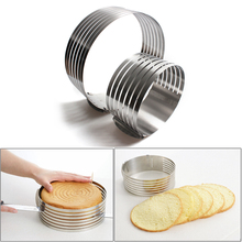 ZLCA Adjustable Cake Cutter Slicer Stainless Steel Round Bread Cake Slicer Cutter Mold Cake Tools DIY Kitchen Baking Accessories stainless steel wire cake cutter slicer adjustable diy butter bread divider pastry cake kitchen baking tools