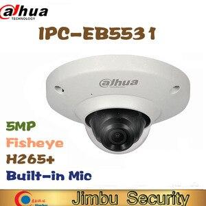 Image 1 - Dahua 5MP IP camera IPC EB5531 Panoramic Network Fisheye IP Camera  H.265 1.4mm lens Built in Mic Micro SD card IP67 PoE WDR