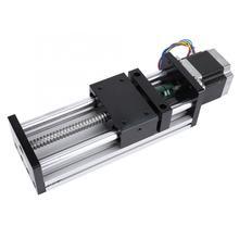 купить 300mm Ball Screw Linear Actuator Motorized Slide Table with Nema17 42 Stepper Motor geleiderail онлайн