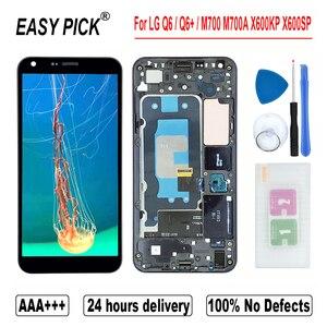 Image 1 - עבור LG Q6 M700A M700N US700 M703 M700H M700Y US700 M700TV LCD תצוגת מסך מגע Digitizer עצרת עבור LG Q6 + כפול/Q6 בתוספת