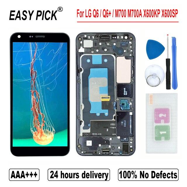 עבור LG Q6 M700A M700N US700 M703 M700H M700Y US700 M700TV LCD תצוגת מסך מגע Digitizer עצרת עבור LG Q6 + כפול/Q6 בתוספת
