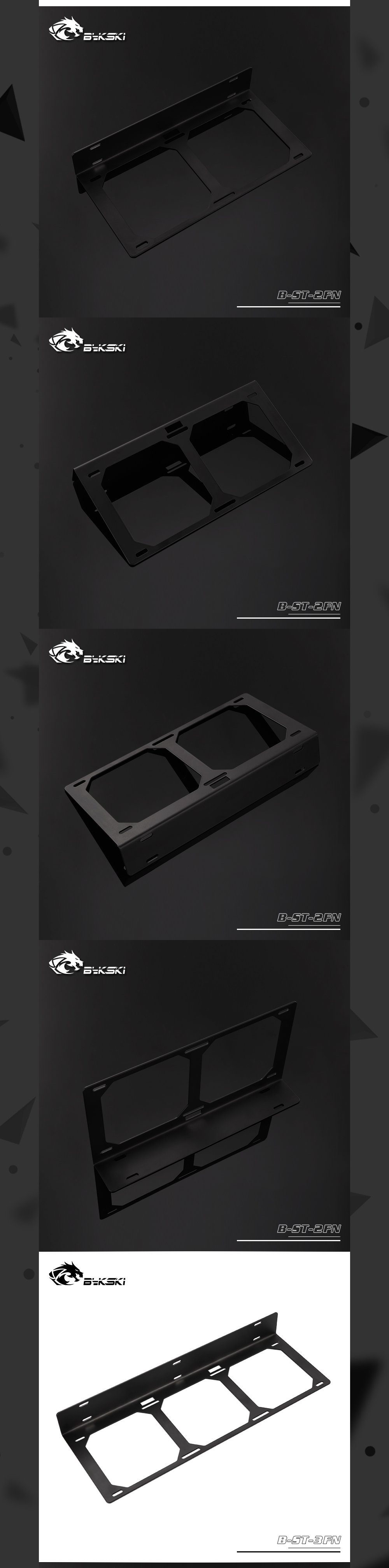 Bykski B-ST-FN, Fan/Radiator Brackets, Suitable For 12cm Fans 120/240/360 Radiator,