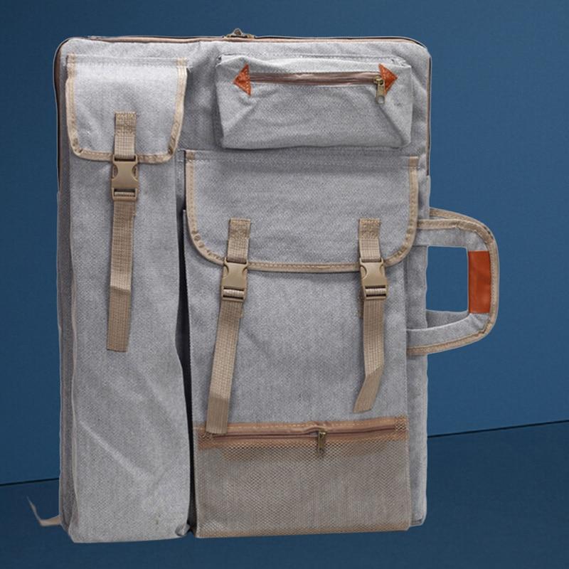 Image 4 - Art Portfolio Bag Case Backpack Drawing Board Shoulder Bag with Zipper Shoulder Straps for Artist Painter Students Artwork-in Art Sets from Office & School Supplies