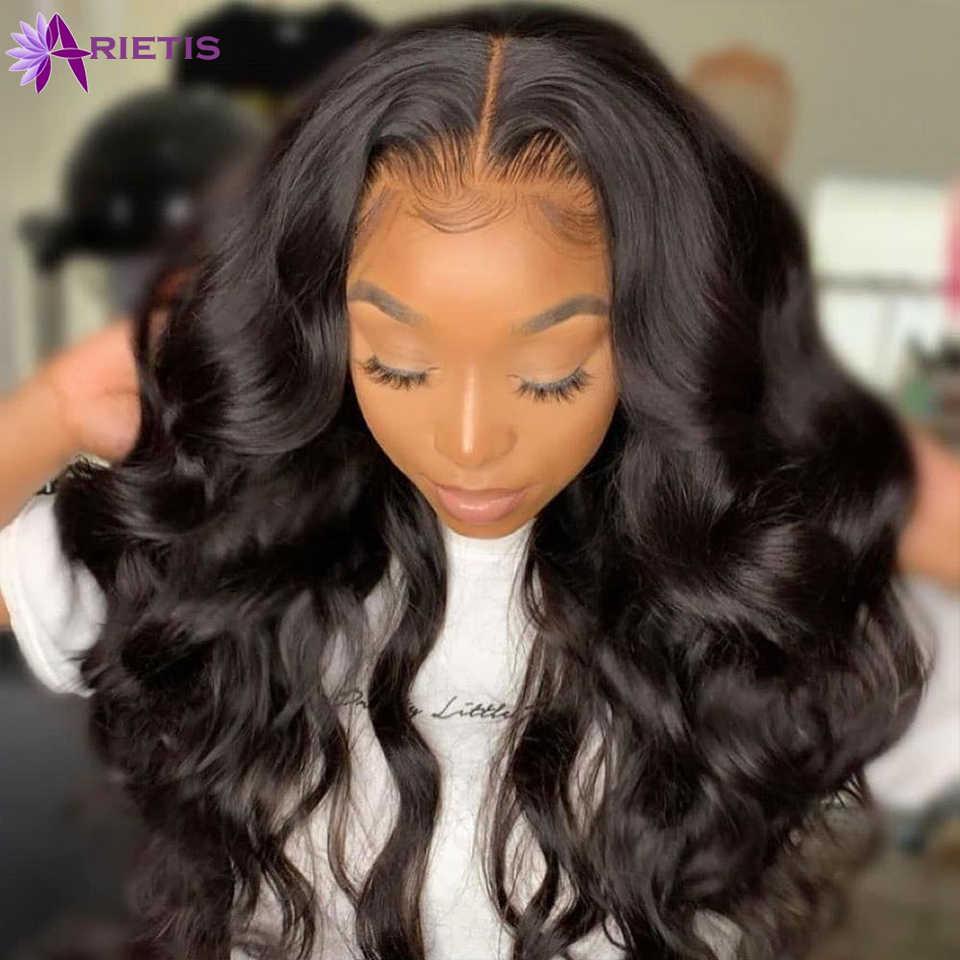 13x4 frente do laço perucas de cabelo humano onda do corpo brasileiro u parte perucas de cabelo humano 360 peruca frontal do laço pré arrancado 4x4 fechamento do laço peruca