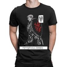 Los hombres T Camisas Escanor los siete pecados mortales divertido algodón Premium camisetas Camisas T Camisa estampada con cuello redondo