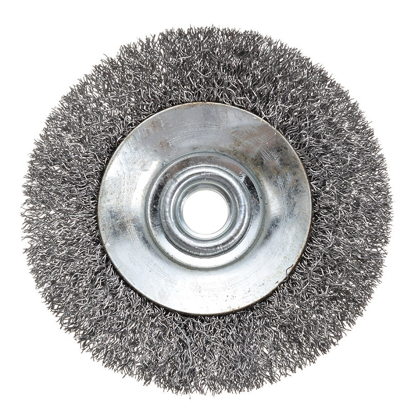 1Pcs Wire Bevel Brush 100mm Steel Wire Wheel Brush M14 Thread For Angle Grinder Metal Cleaning Rust Removal Sanding Polishing