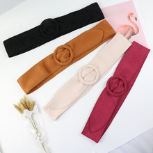 Long Velvet Belt Suede Dress Belts Female circle Knot Black Waistband Red brown Decorate Coat Sweater Belt Waist Seal Tide(China)