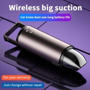 Image 1 - مكنسة كهربائية محمولة لاسلكية صغيرة ، 6000 باسكال ، متعددة الوظائف ، محمولة ، مع شحن ، للسيارة والمنزل