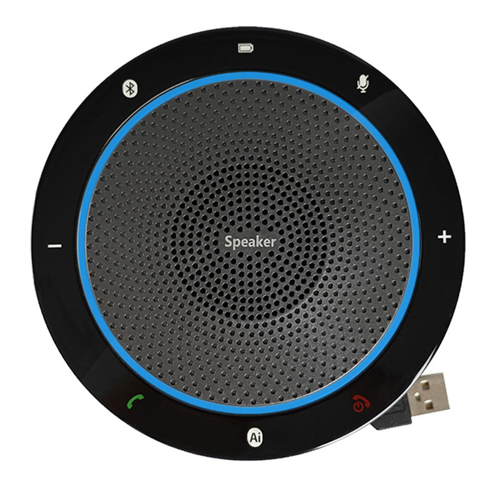 Bluetooth Computer Tabletop Omnidirectional Condenser Boundary Conference Microphone For Recording,Gaming,Skype,Voip Call image