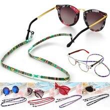5 мм широкий ретро очки солнцезащитные очки хлопок шеи шнур Фиксатор ремень шнурок для очков держатель с хорошей силиконовой петлей