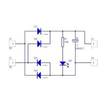 цена на AC-DC Converter 6/12/24V To 12V Full-bridge Rectifier Filter Power Supply Module D08A