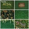 Yeele трава зеленые листья фон для студийной съемки с День рождения Летние тропические джунгли сцены фонов Виниловый фон для фотосъемки с Фон...