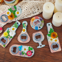 DIY Bottle Opener Kit with Parts Silicone Casting Mold Soft Keychain Baking Pan Mould for Craft Pendant Decoration RT88