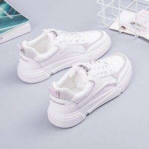 Image 3 - SWYIVY öğrenci ayakkabı kız beyaz Sneakers tıknaz platformu 2020 bahar yeni kadın rahat ayakkabılar Sneakers beyaz Sneaker kadın
