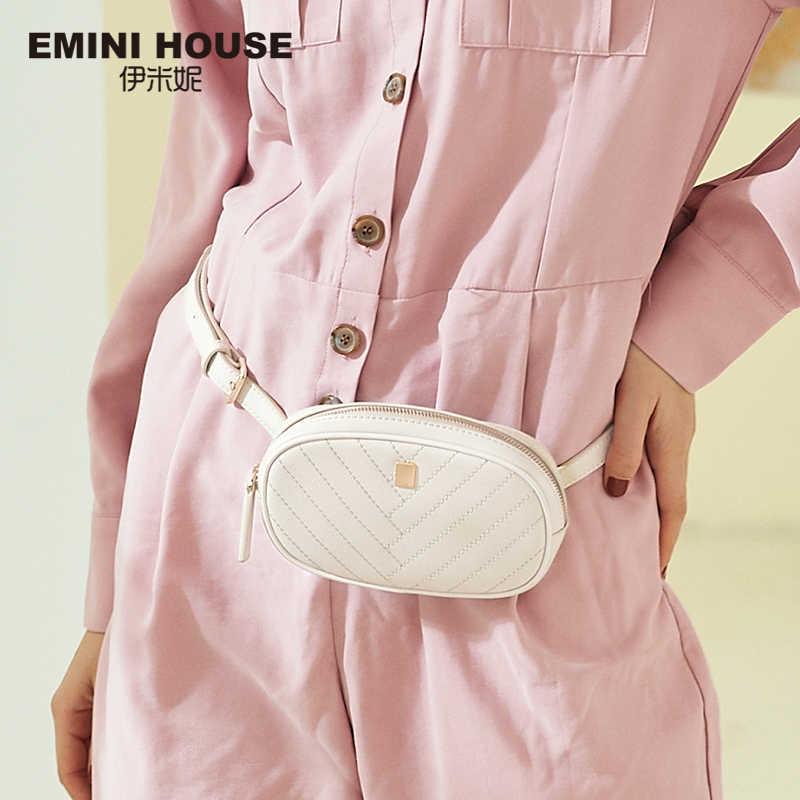 EMINI HOUSE מותניים חבילות פיצול עור Crossbody שקיות לנשים חזה תיק יוקרה תיקי נשים שקיות מעצב גבירותיי ארנק