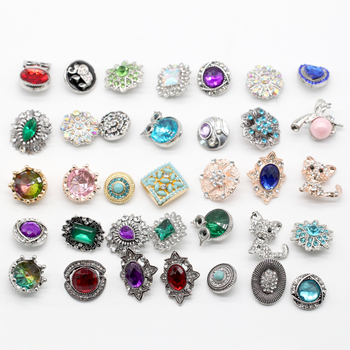 New hot selling popular snap button mixed 50 pieces for snap pendants snap DIY snap jewelry N10