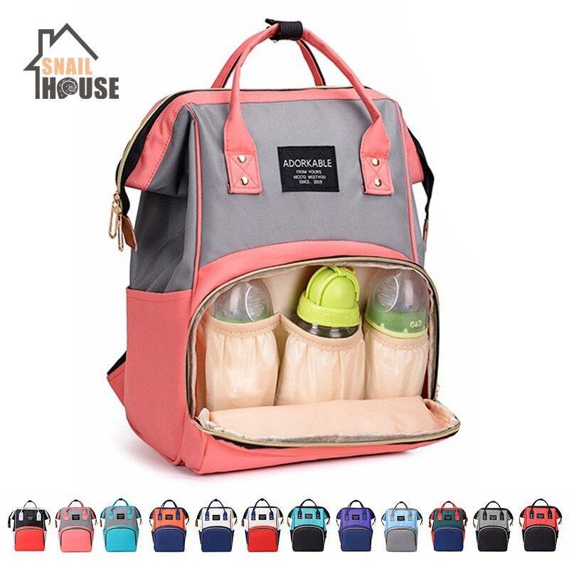Snailhouse Large Capacity Diaper Bag Outdoor Baby Bag Multifunctional Mummy Maternity Waterproof Handbag Mom Travel Nappy Bag