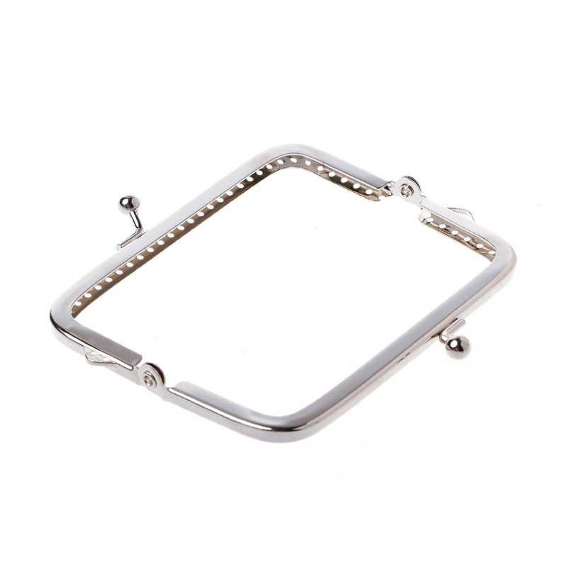 1PC Metal Sewing Holes Handbag Clutch Coin Purse Bag Frame Kiss Clasp Arch 8.5cm