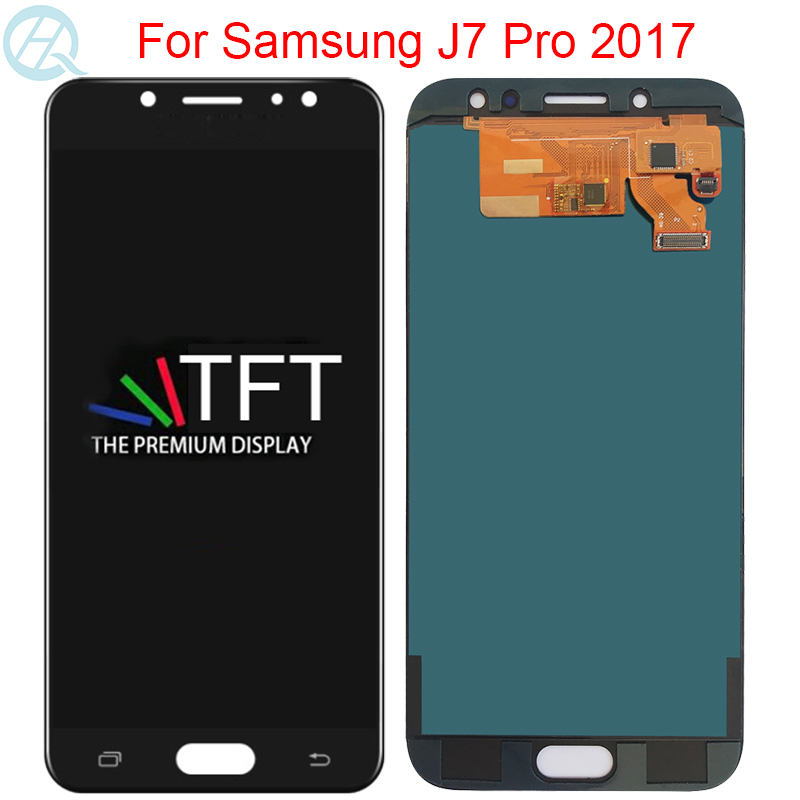 New TFT <font><b>Display</b></font> For <font><b>Samsung</b></font> <font><b>Galaxy</b></font> <font><b>J7</b></font> Pro <font><b>2017</b></font> J730F J730G J730M LCD With Frame <font><b>Display</b></font> Touch Screen Digitizer Assembly image
